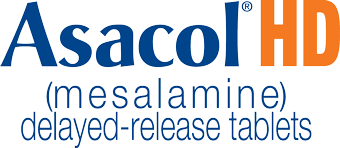 Logo for Asacol HD mesalamine delayed-release tablets