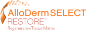 Logo for AlloDerm SELECT RESTORE Regenerative Tissue Matrix