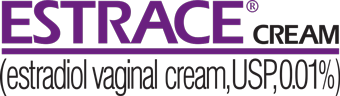Logo for ESTRACE CREAM estradiol vaginal cream USP 0.01%