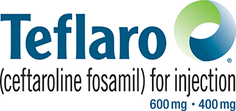 Logo for Teflaro ceftaroline fosamil for injection 600 mg 400 mg